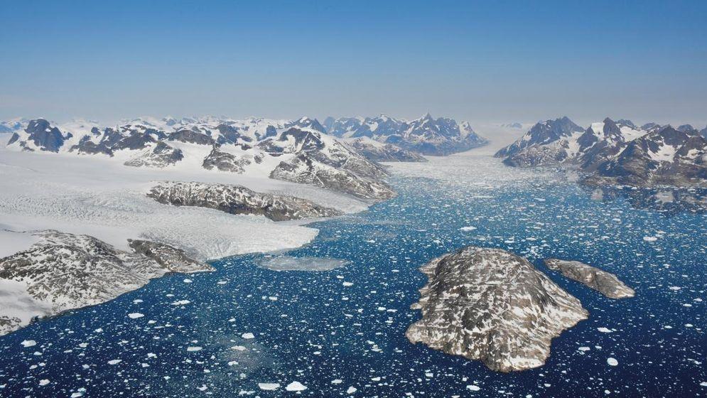 Grönland, Mogens Heinesen Fjord: Kalbende Gletscher im Südwesten Grönlands.