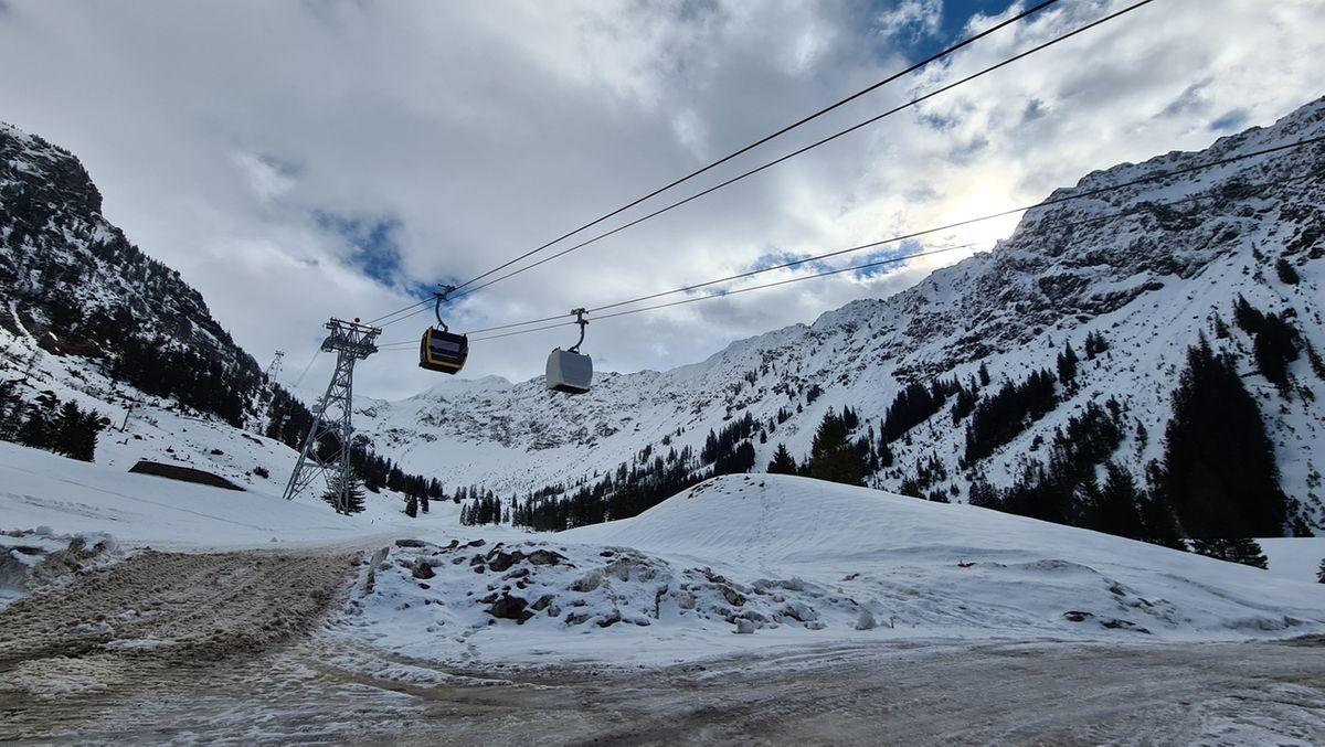 Die Nebelhornbahn läuft mit neuen Gondeln im Probebetrieb
