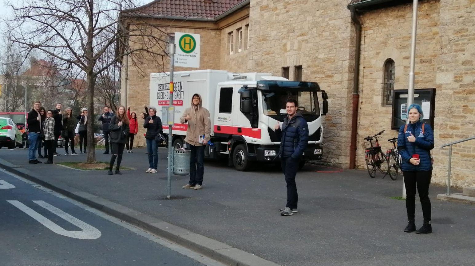 Riesige Resonanz bei BRK-Blutspendetermin in Würzburg