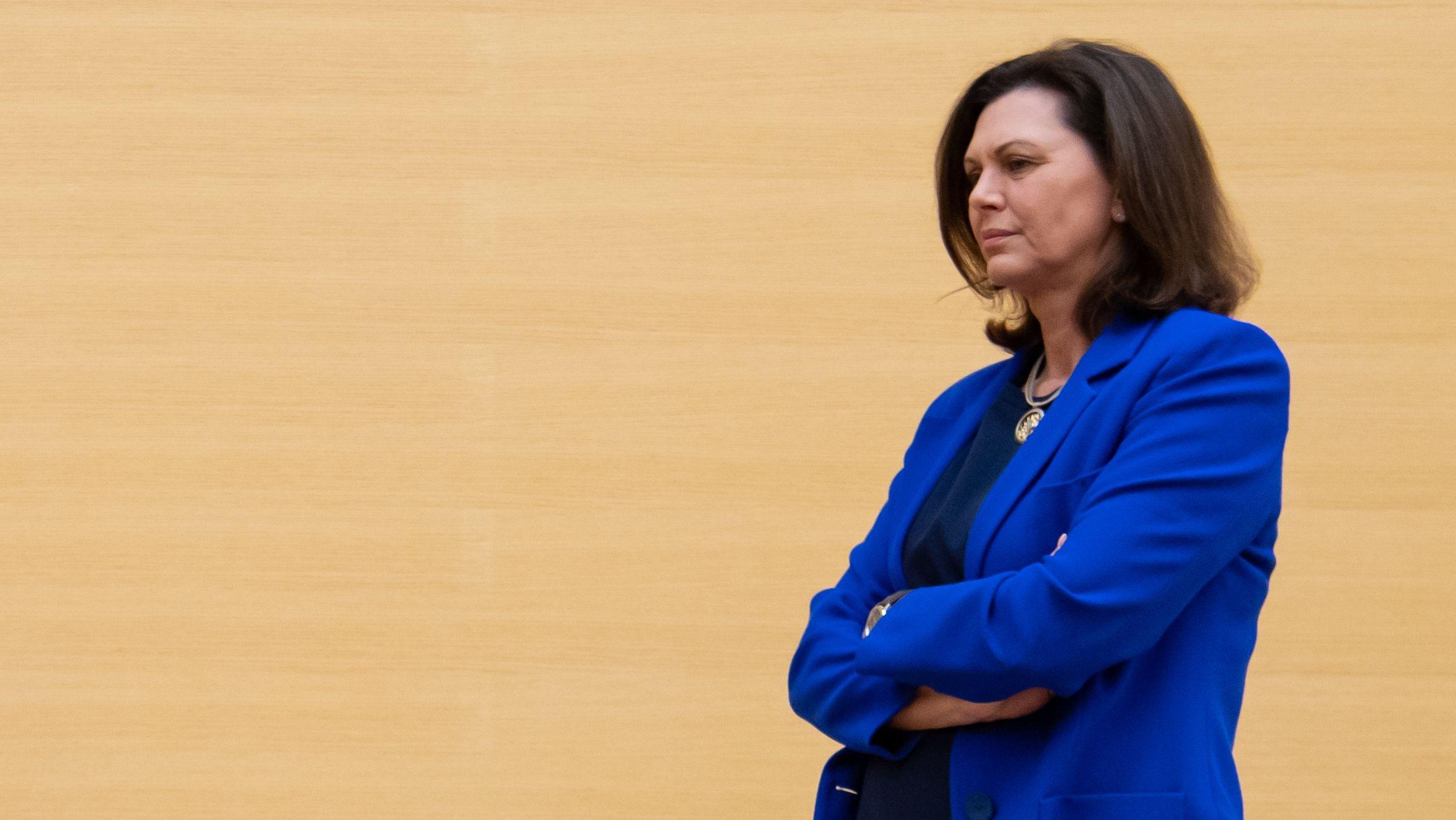 Landtagspräsidentin Ilse Aigner (CDU) im März im bayerischen Landtag.