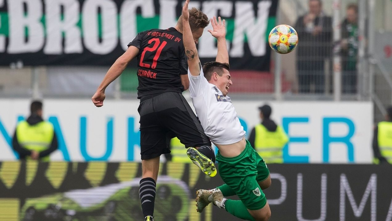 Spielszene Ingolstadt - Preußen Münster