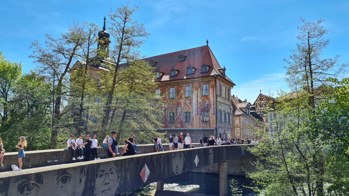 Die Untere Brücke in Bamberg