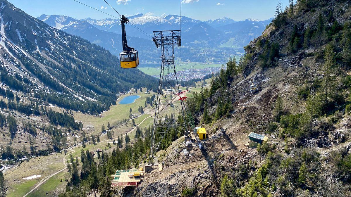 Die Bauarbeiten für die neue Nebelhornbahn beginnen früher.