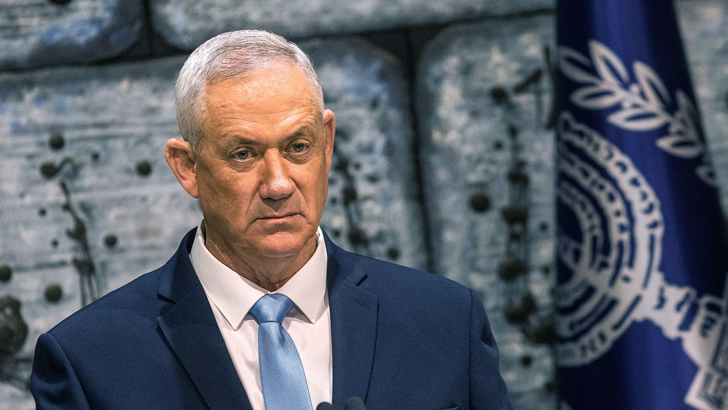 Benny Gantz, Vorsitzender des oppositionellen Mitte-Bündnisses Blau-Weiß