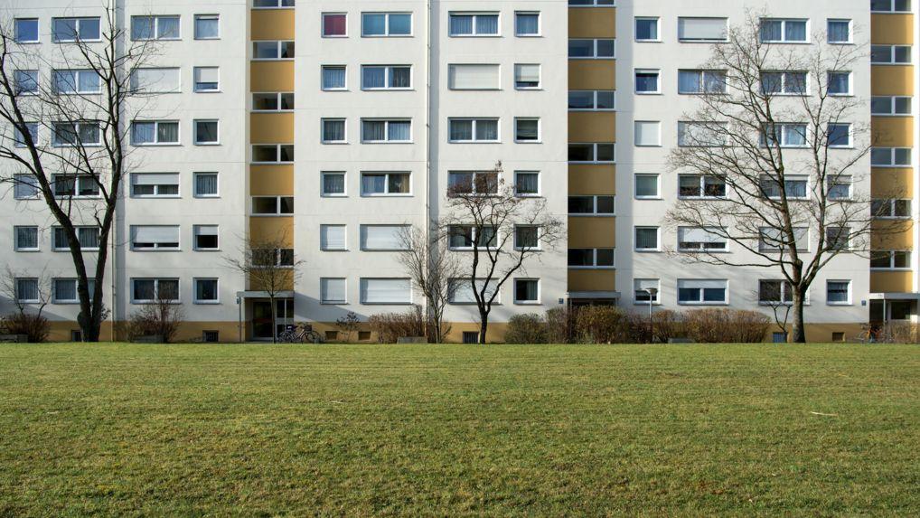 Ein Wohnhaus im Münchner Stadtteil Westkreuz
