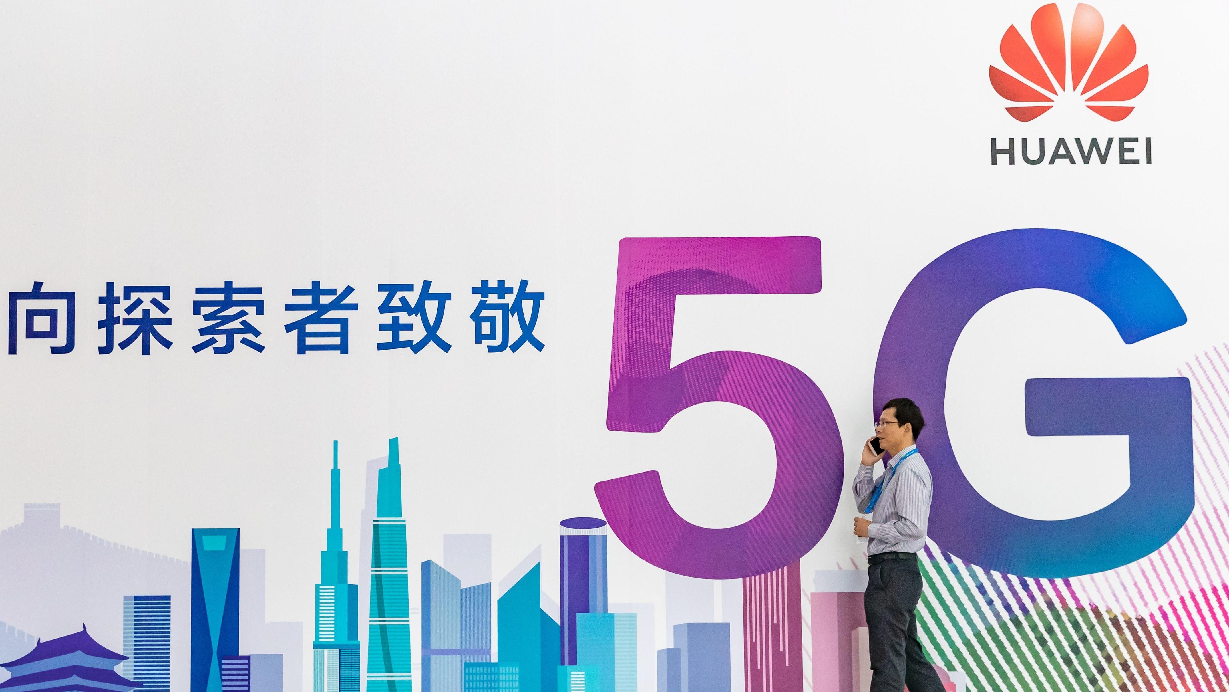 Schriftzüge Huawei und 5G