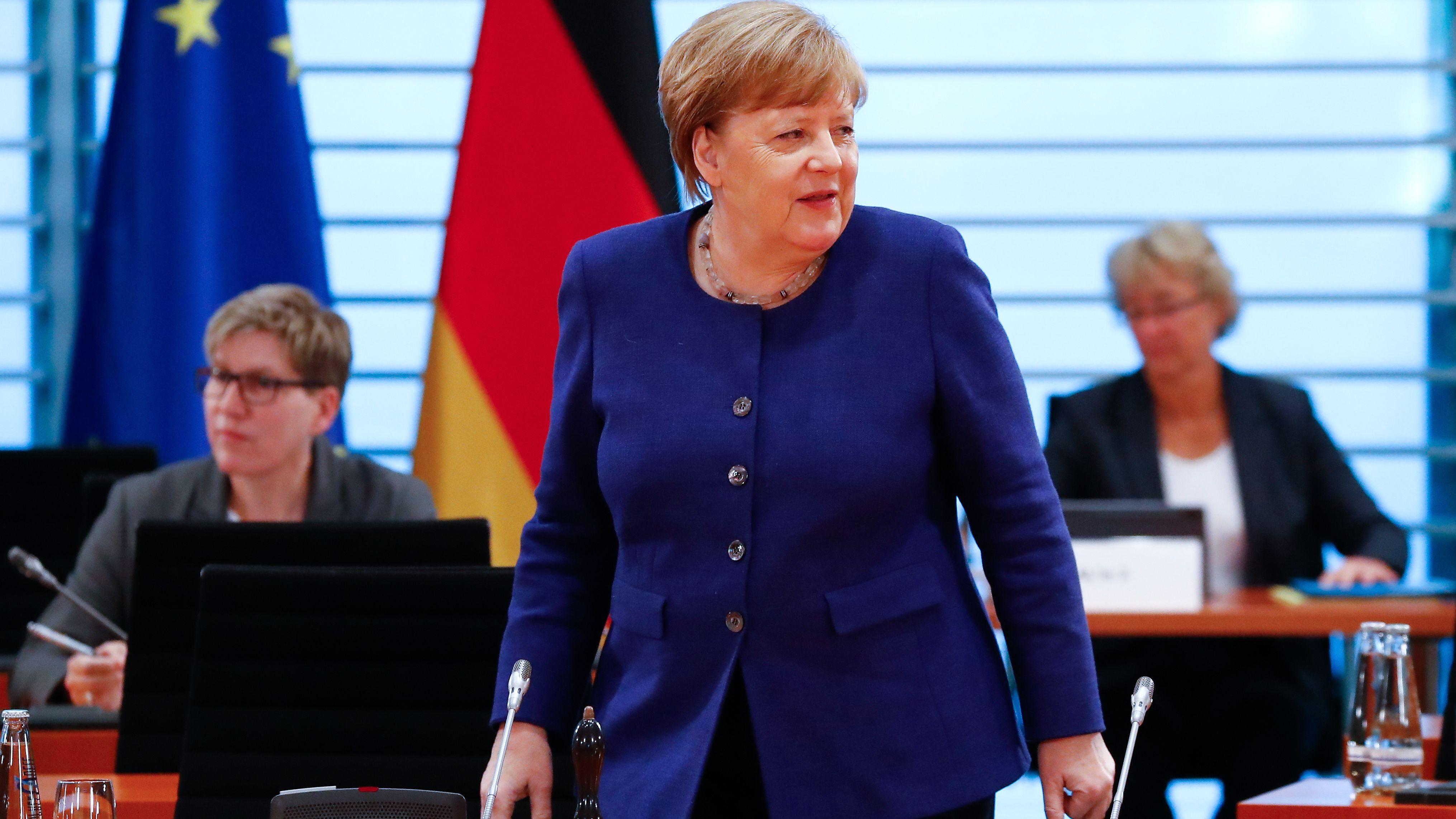 Bundeskanzlerin Angela Merkel (CDU) am Mittwoch bei der wöchentlichen Kabinettssitzung.