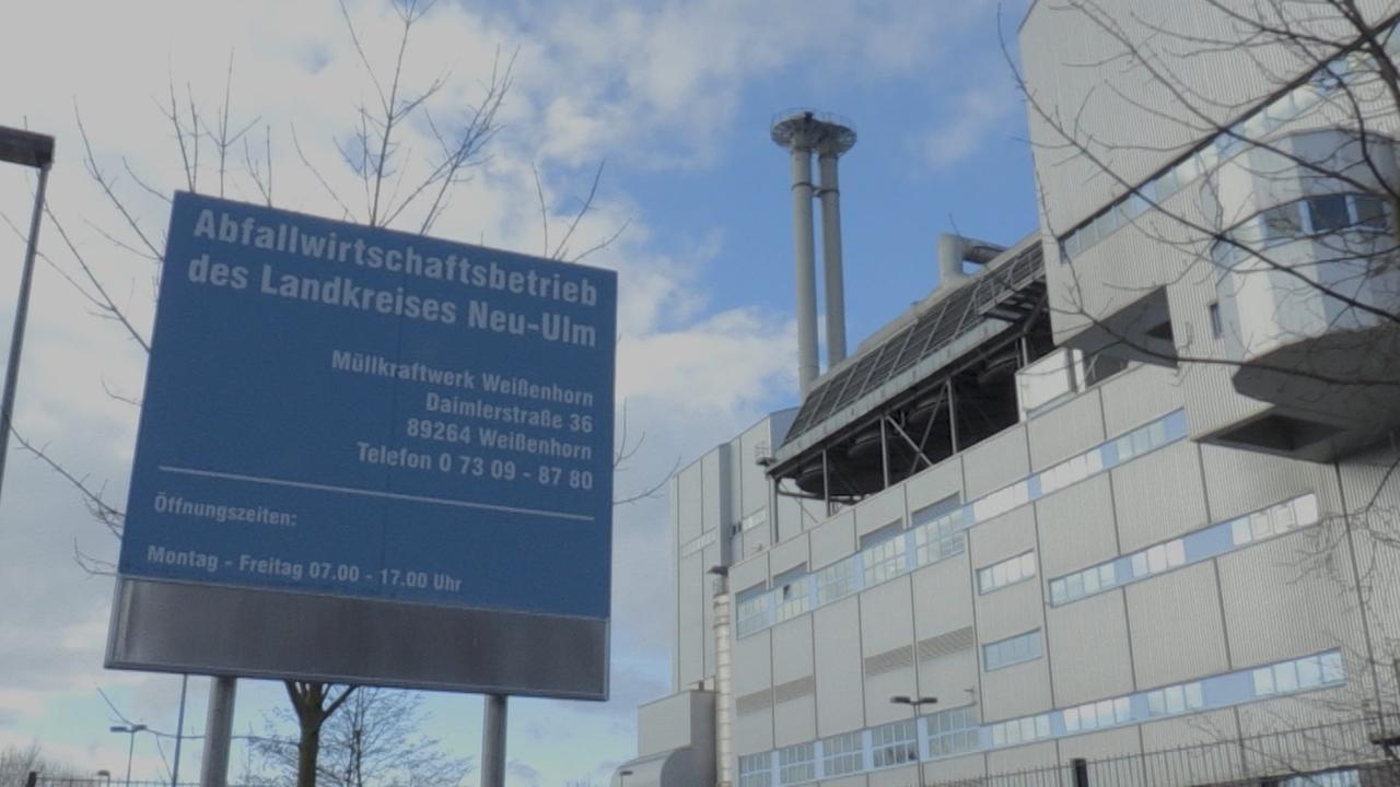 Die Müllverbrennungsanlange in Weißenhorn