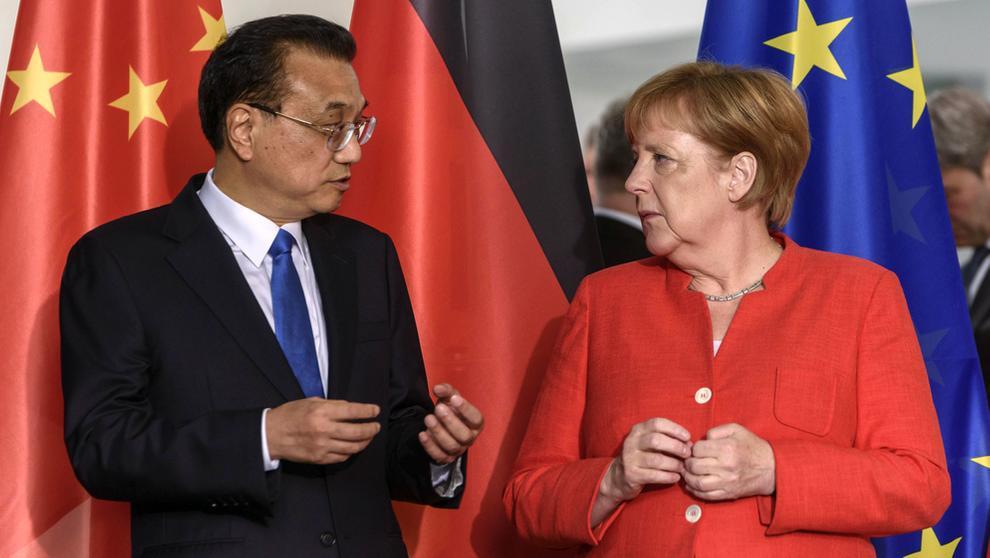Angela Merkel und Li Keqiang | Bild:pa/dpa