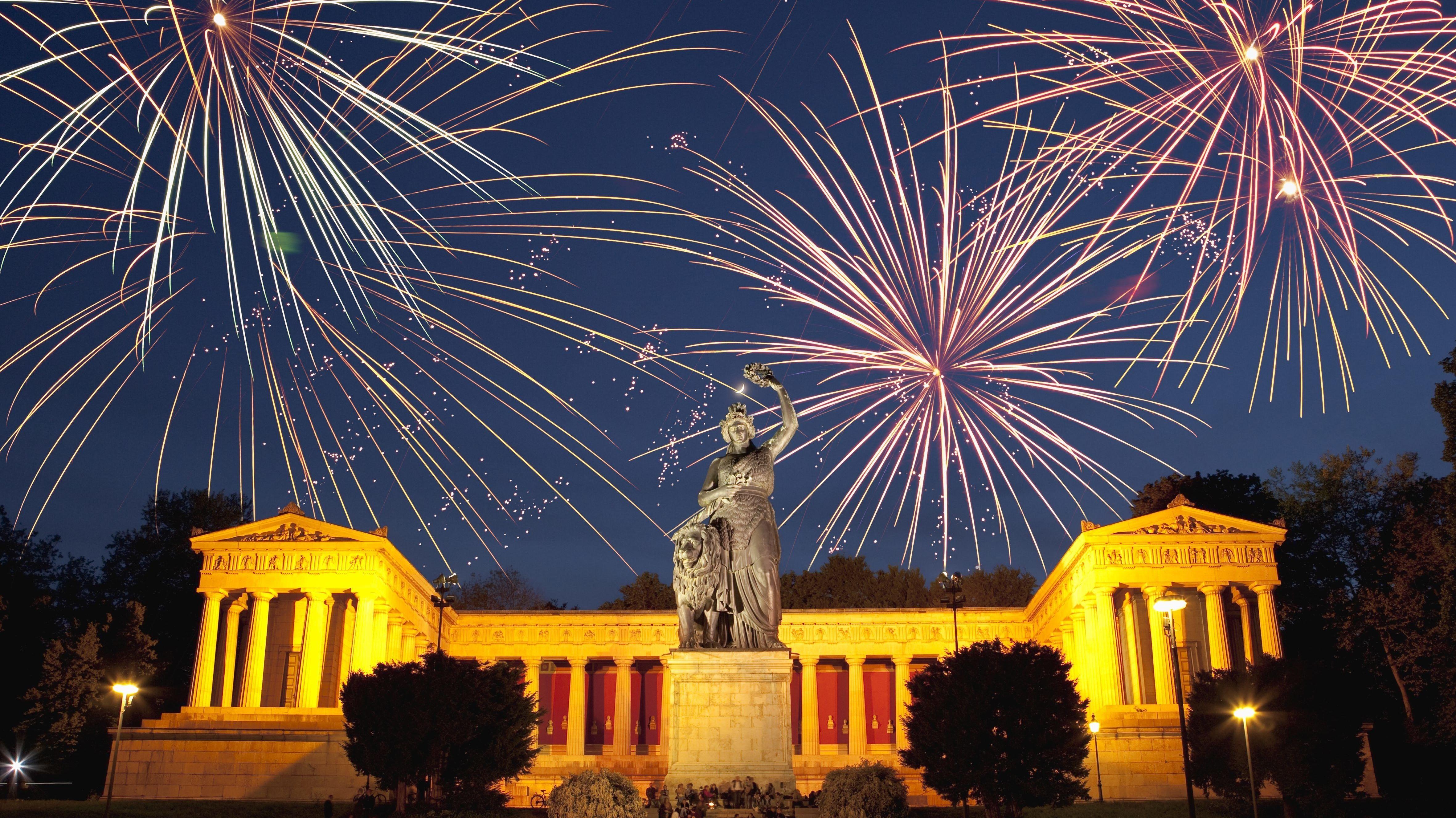 Gute Sicht aufs Feuerwerk in München (Archivbild)