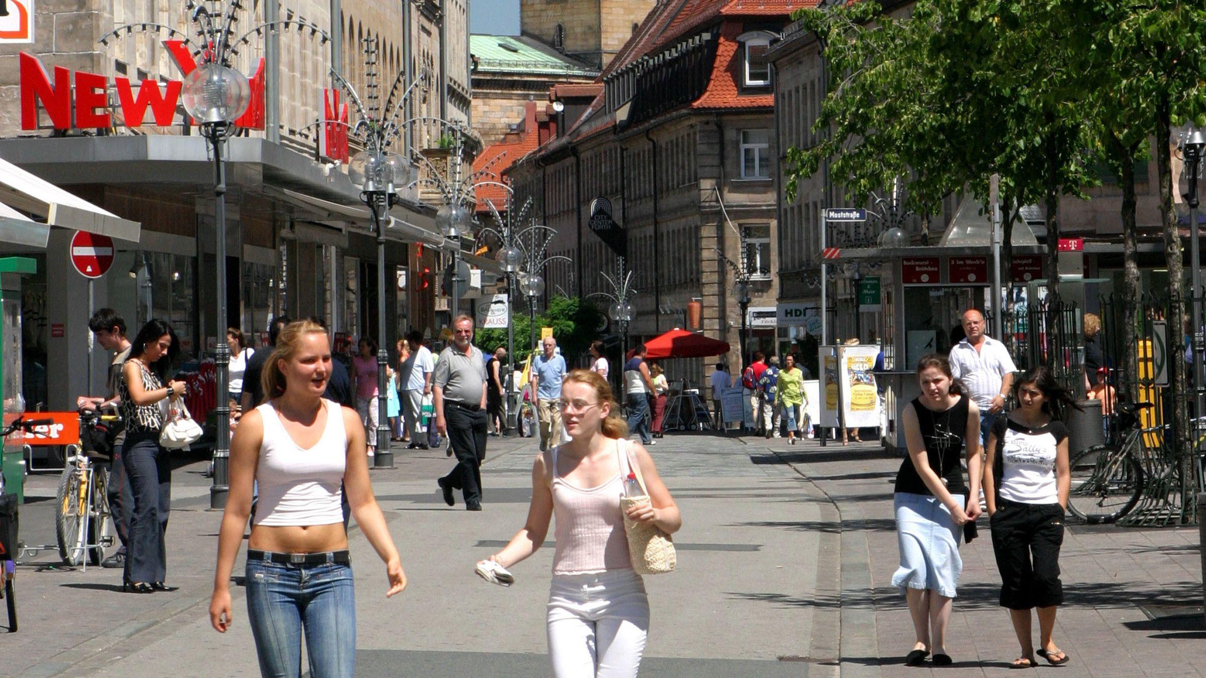 Fußgängerzone in Fürth