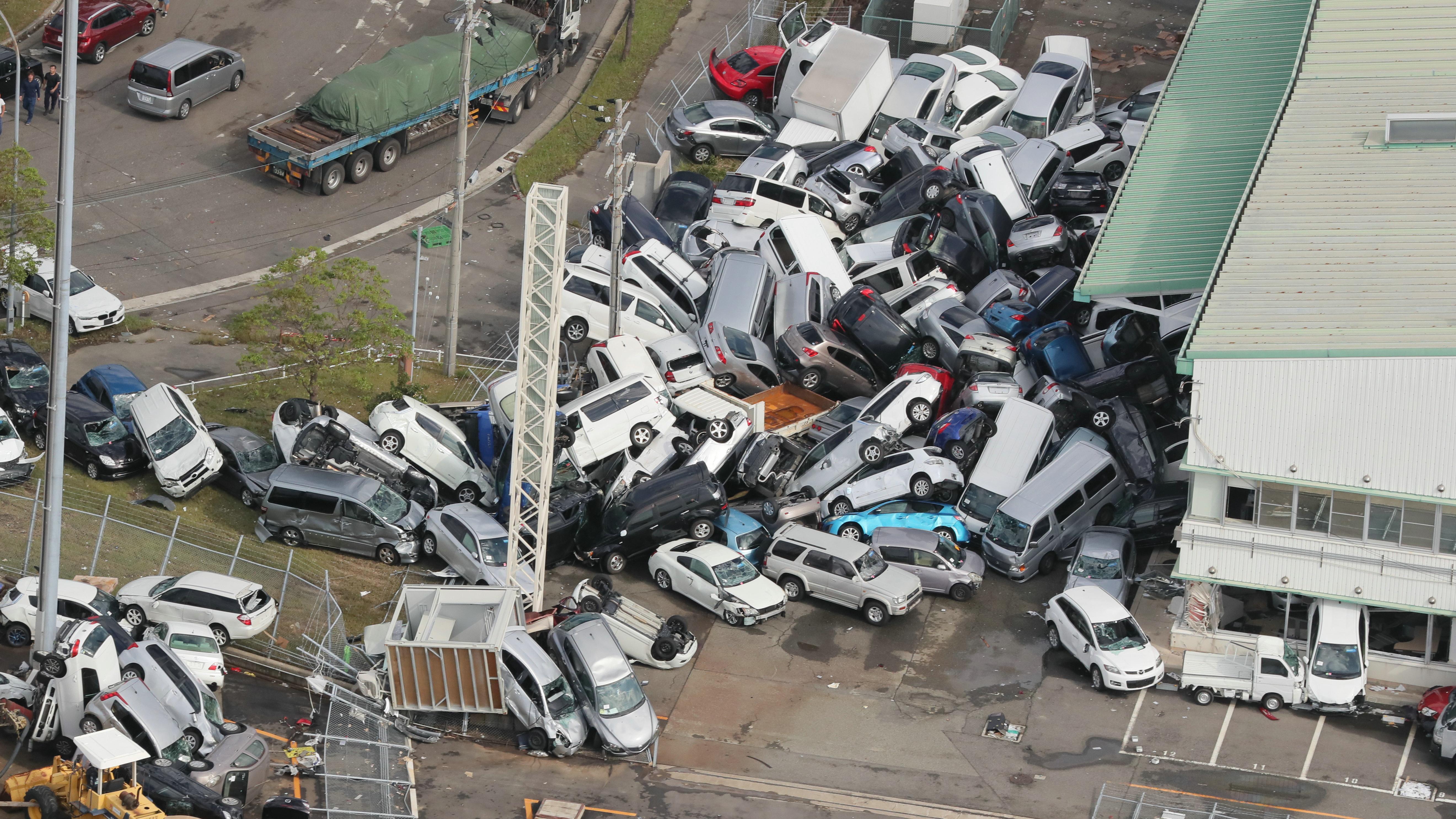 Taifunschäden in Japan