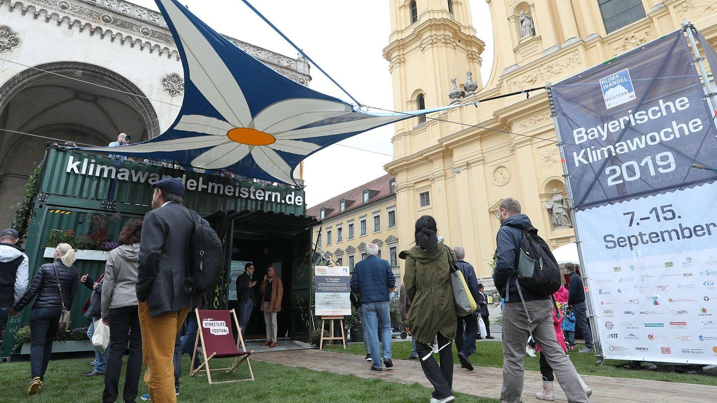 Archivbild der Bayerischen Klimawoche 2019.