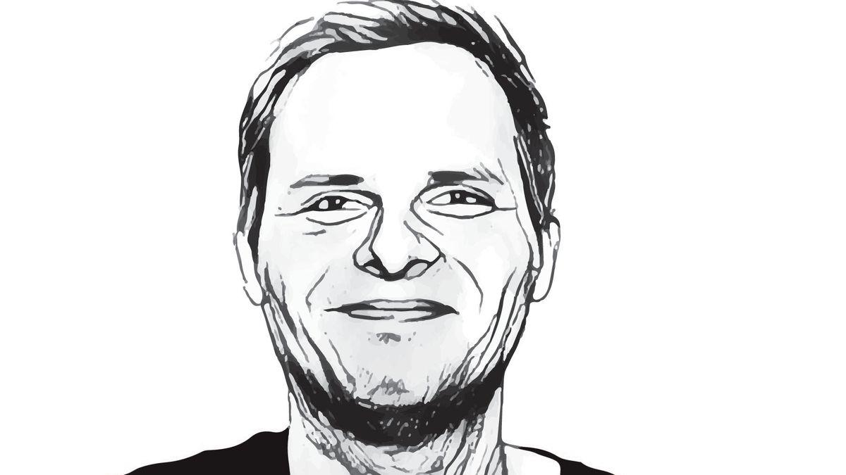 Gezeichnetes Porträt von KATAPULT-Redakteur Sebastian Haupt