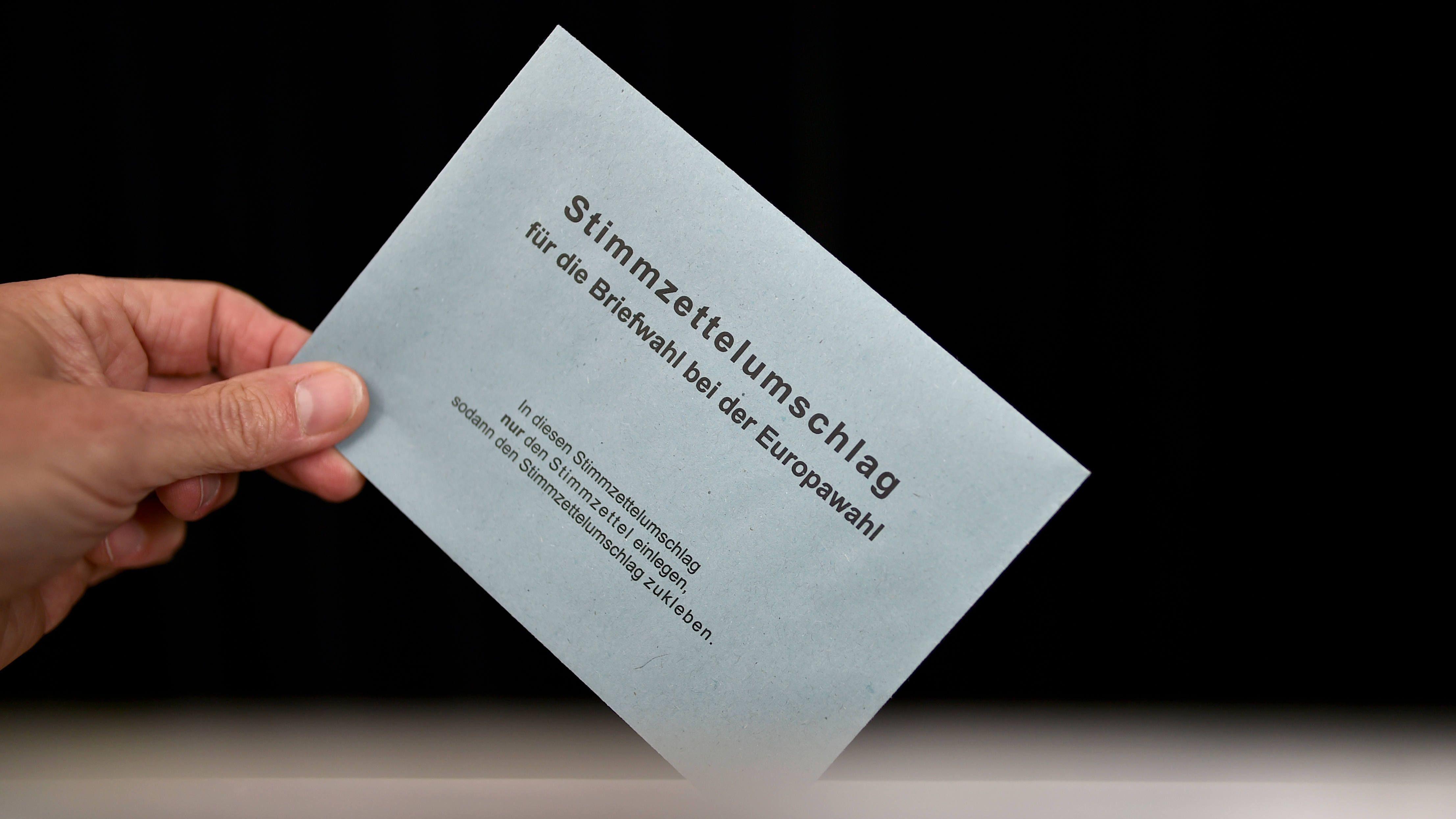 Briefwahlumschlag zur Europawahl