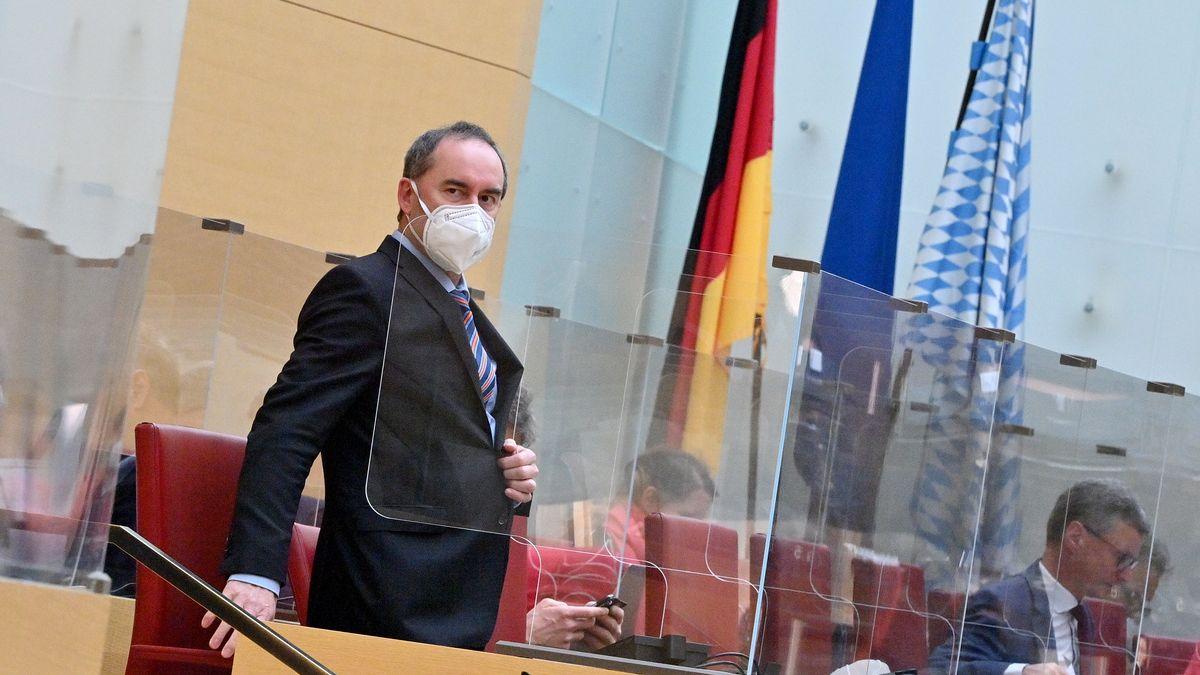 Freie Wähler- Chef Hubert Aiwanger im Bayerischen Landtag