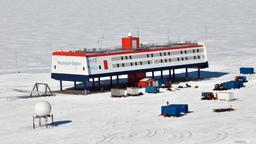 Die Neumayer-Station III in der Antarktis. | Bild:Bildcopyright