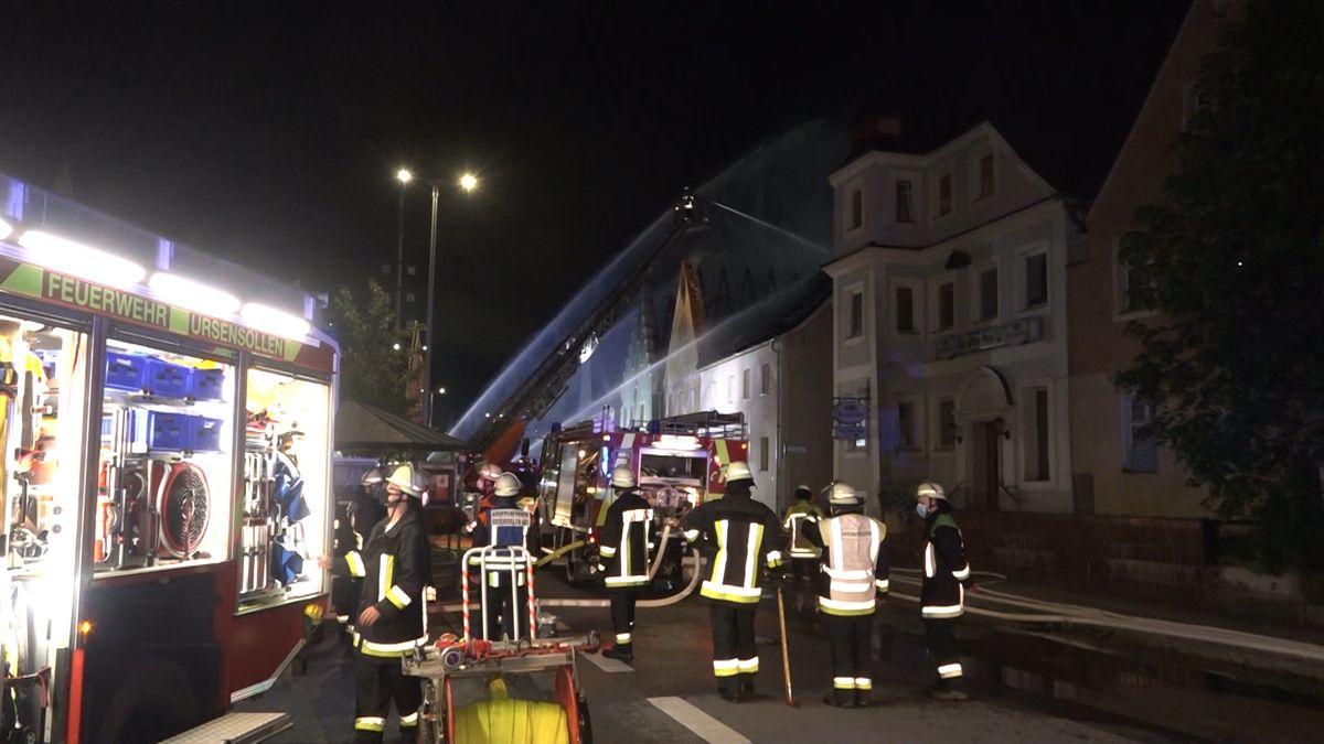 Brand in Hohenburg.