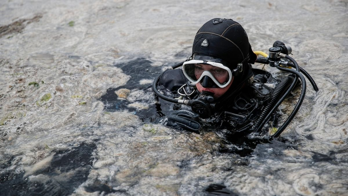 Meeresschleim im türkischen Marmarameer