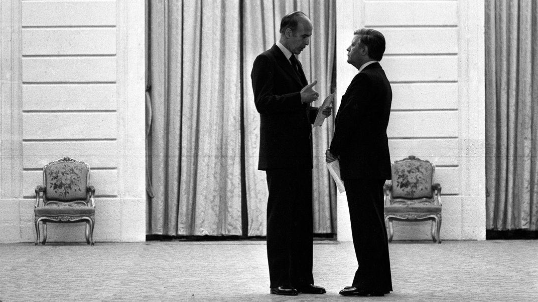 Valery Giscard d'Estaing mit Helmut Schmidt