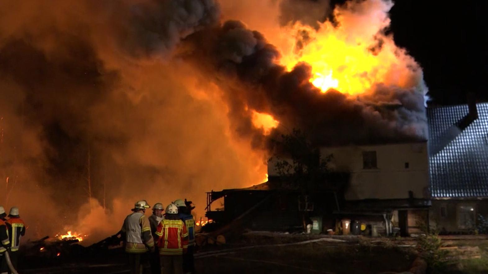 Feuerwehreinsatz bei Schreinerei in Rehau.