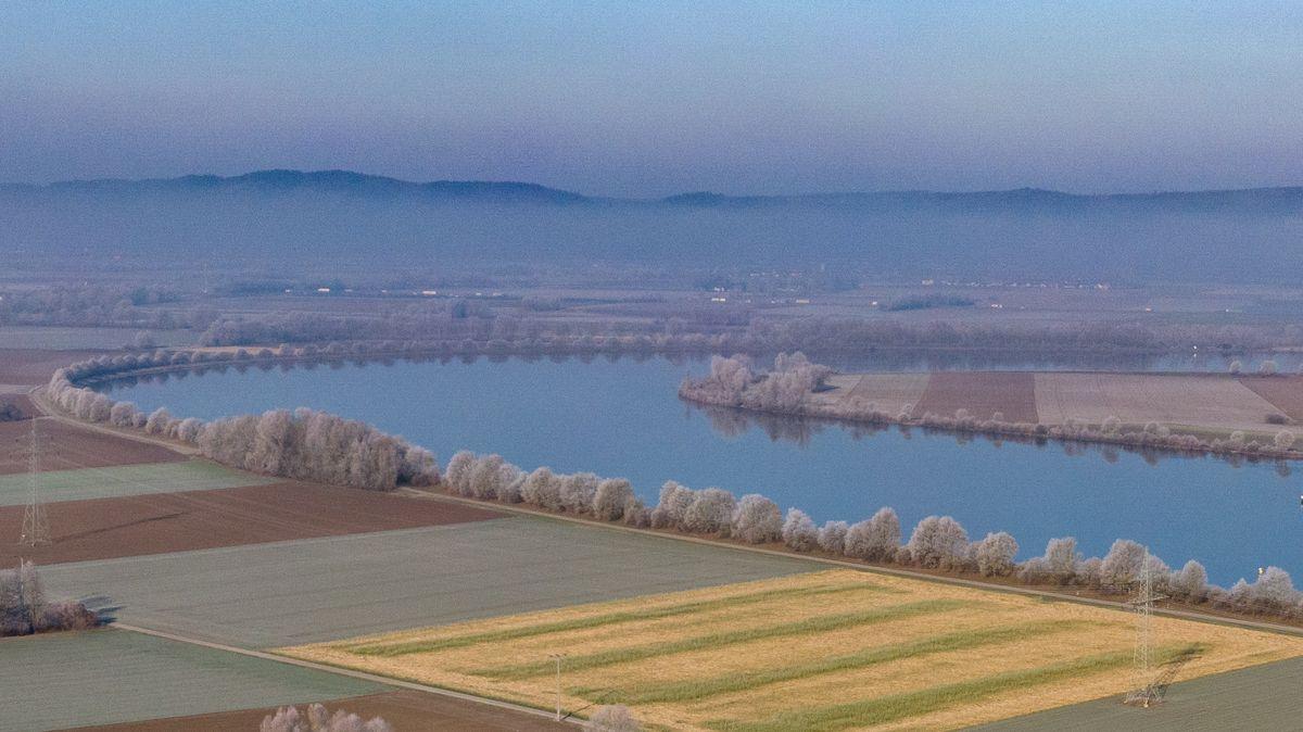 Der geplante Flutpolder Eltheim an der Donau im Kreis Regensburg.