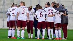 Spielerkreis der FC Bayern-Frauen | Bild:Picture alliance/dpa
