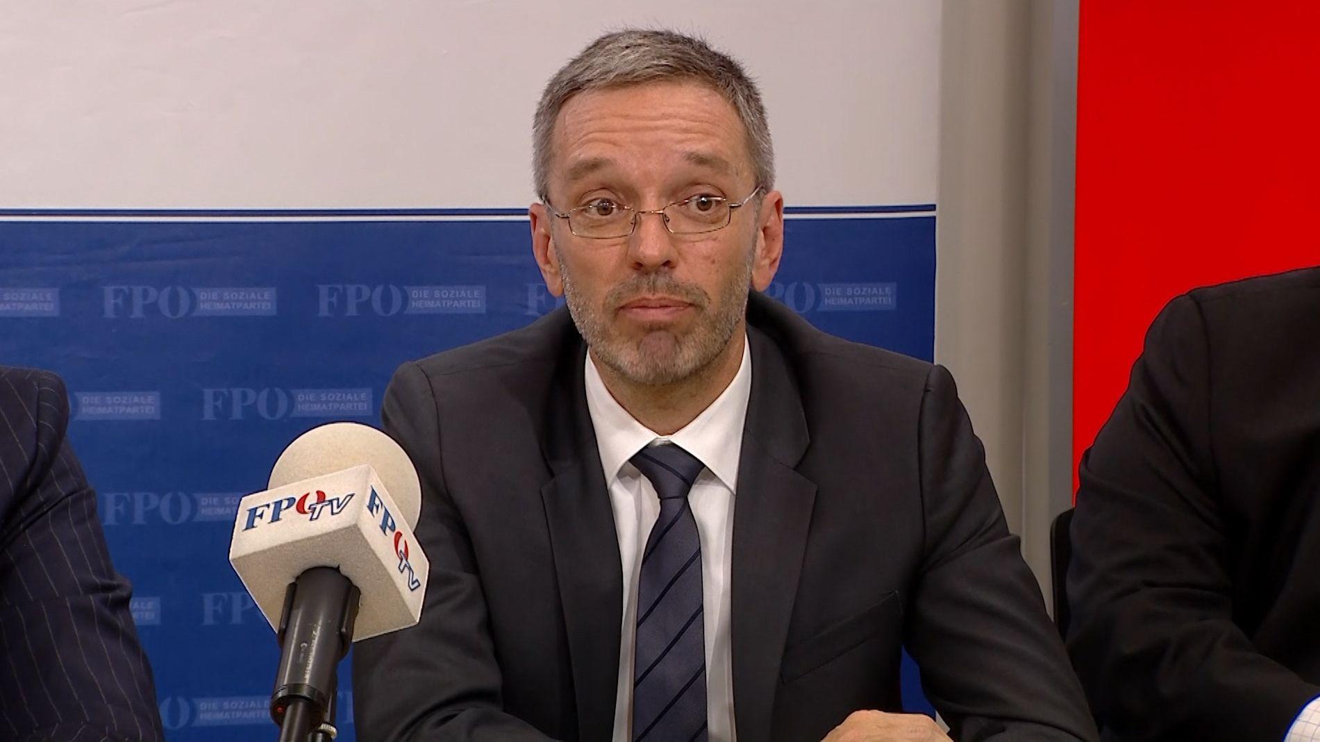 Oesterreichs Innenminister Herbert Kickl (FPOE)