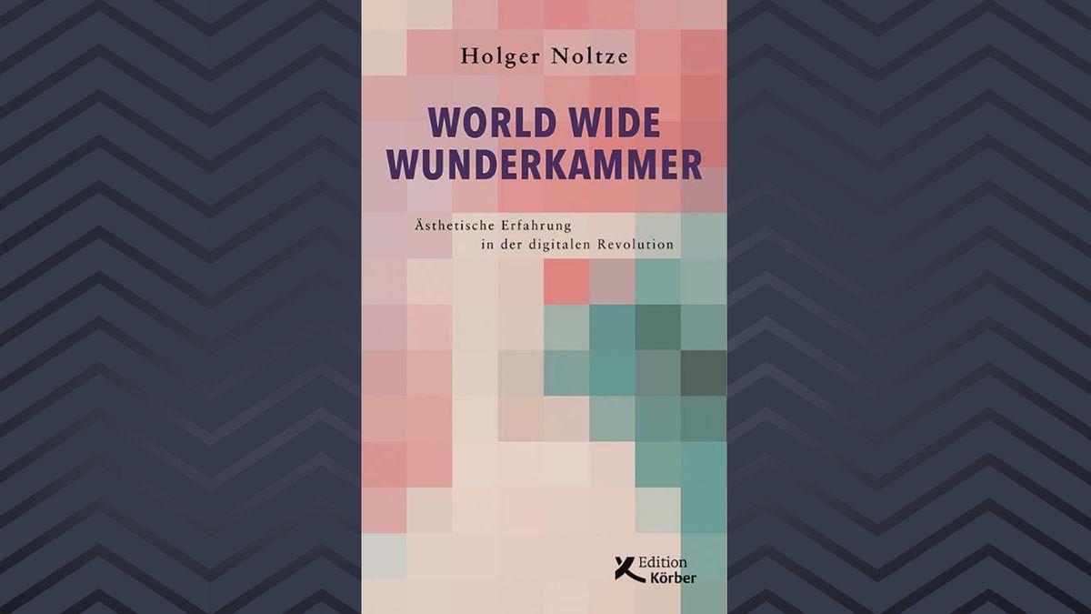 """Ein Buchcover mit pastellfarbenen Quadraten: """"World Wide Wunderkammer"""" von Holger Noltze"""