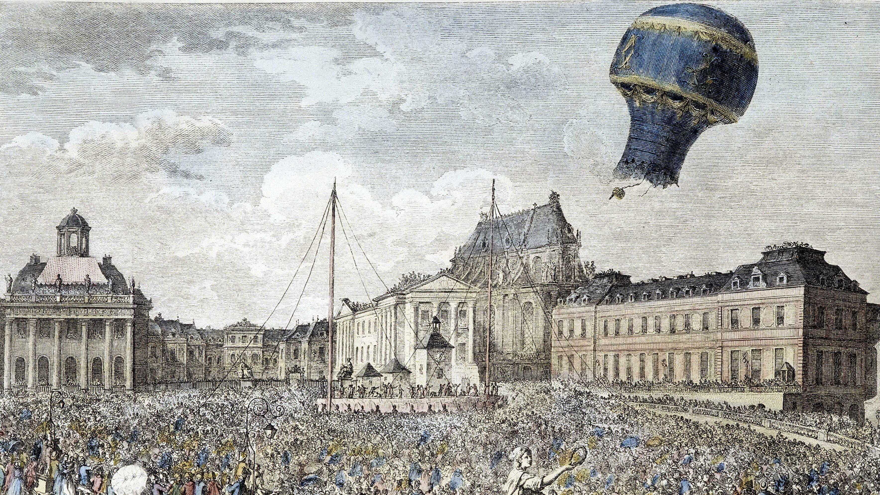 Heißluftballon der Brüder Montgolfier