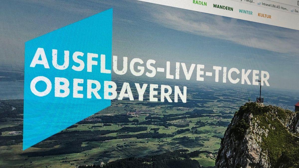 "Plakat ""Ausflugs-Live-Ticker Oberbayern"""