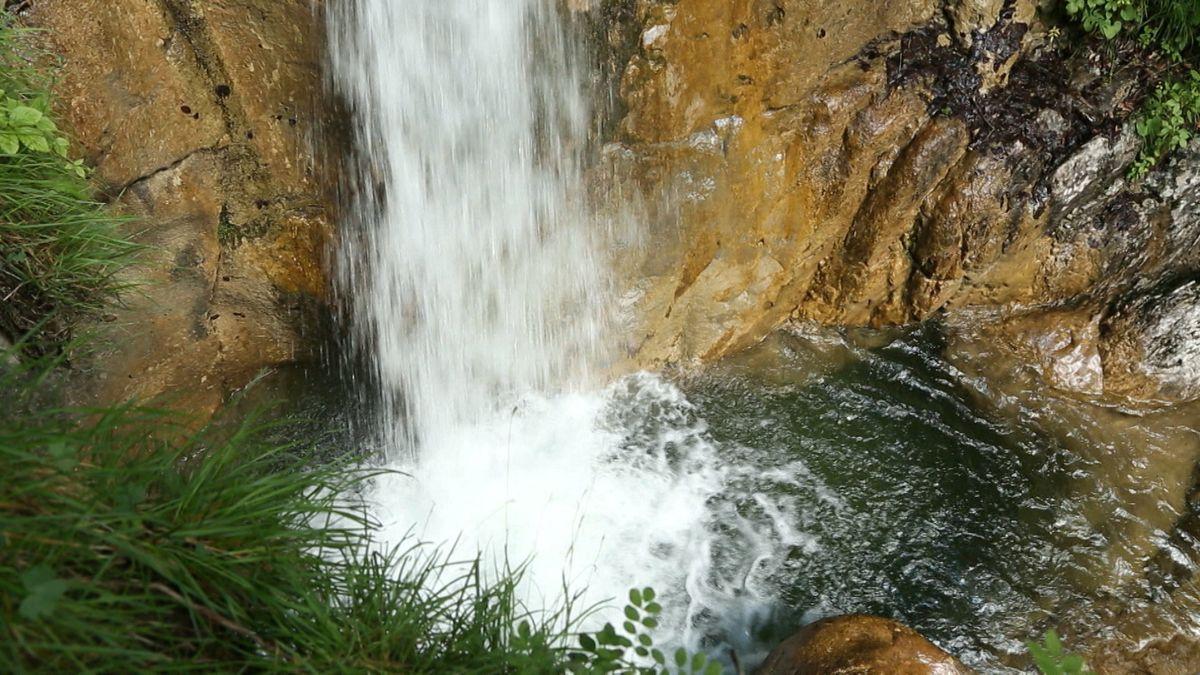 Königsbach-Wasserfall im Nationalpark Berchtesgadener Land.
