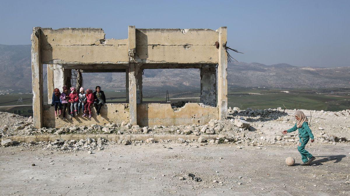 Archivbild: Zerstörte Schule in Syrien