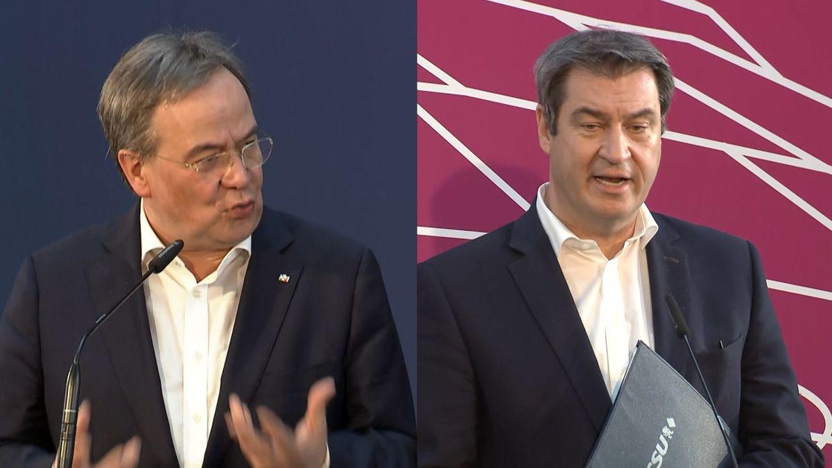 Markus Söder und Armin Laschet.