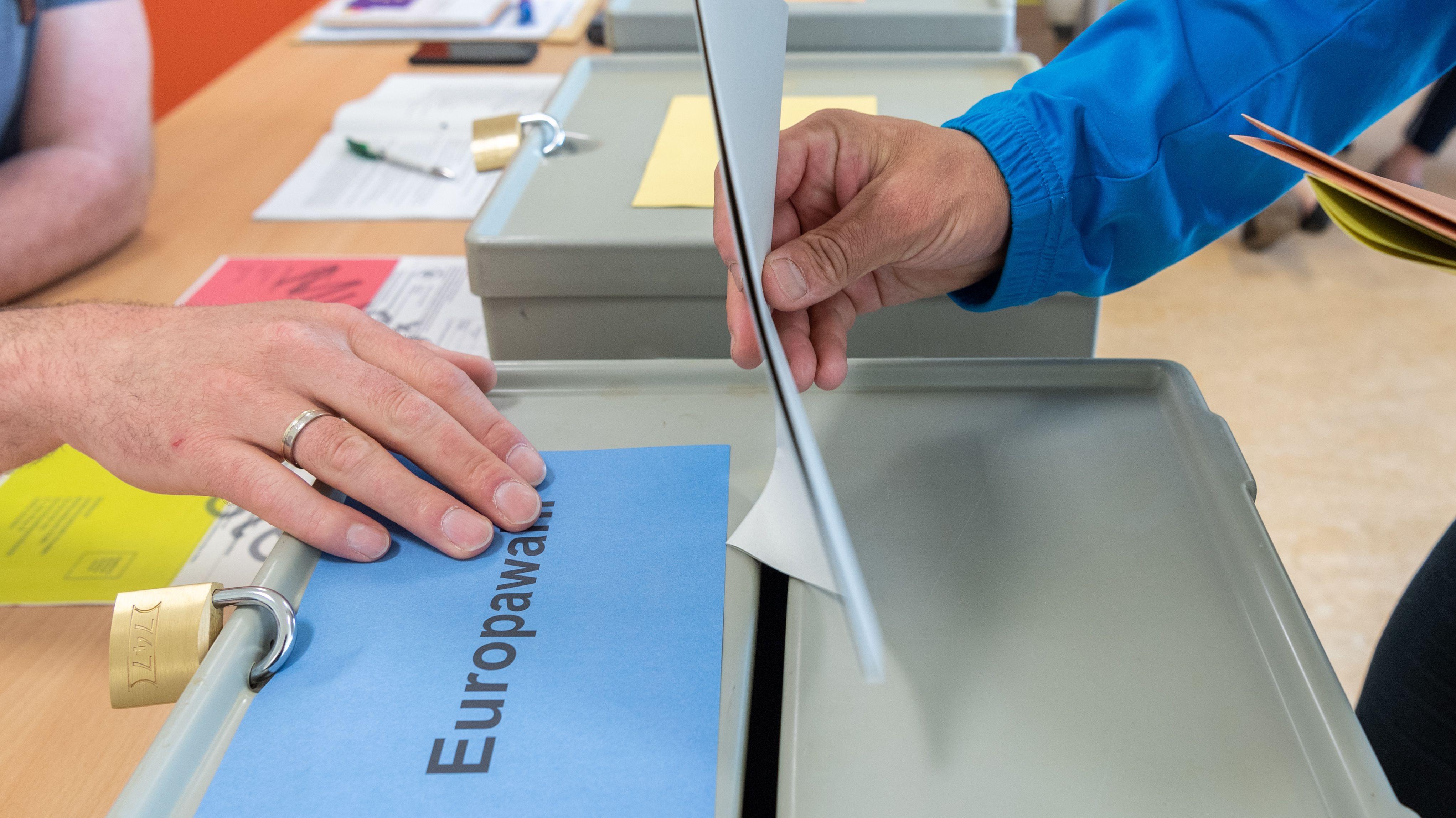 Stimmabgabe bei der Europawahl 2019
