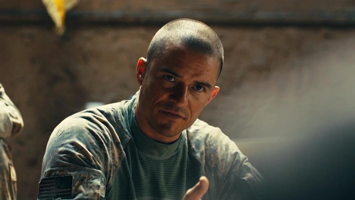 """Orlando Bloom als US-Kommandant in """"The Outpost"""" (Filmszene)"""
