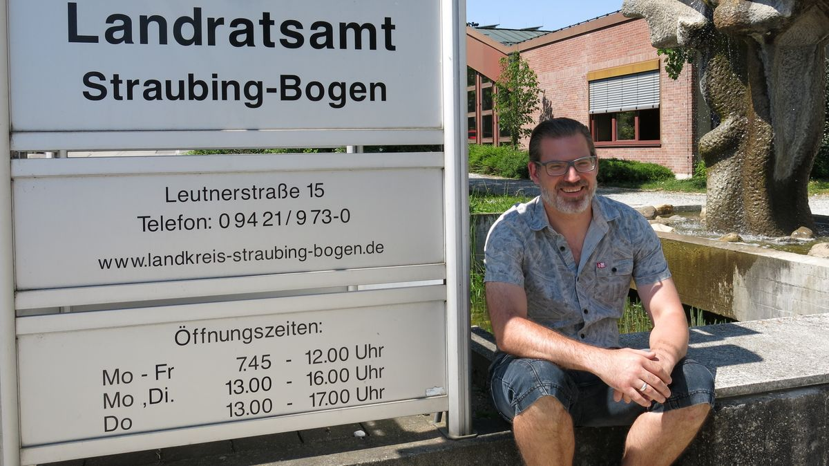Neuer/alter Arbeitsplatz für Thomas Mayer: Das Landratsamt Straubing-Bogen.