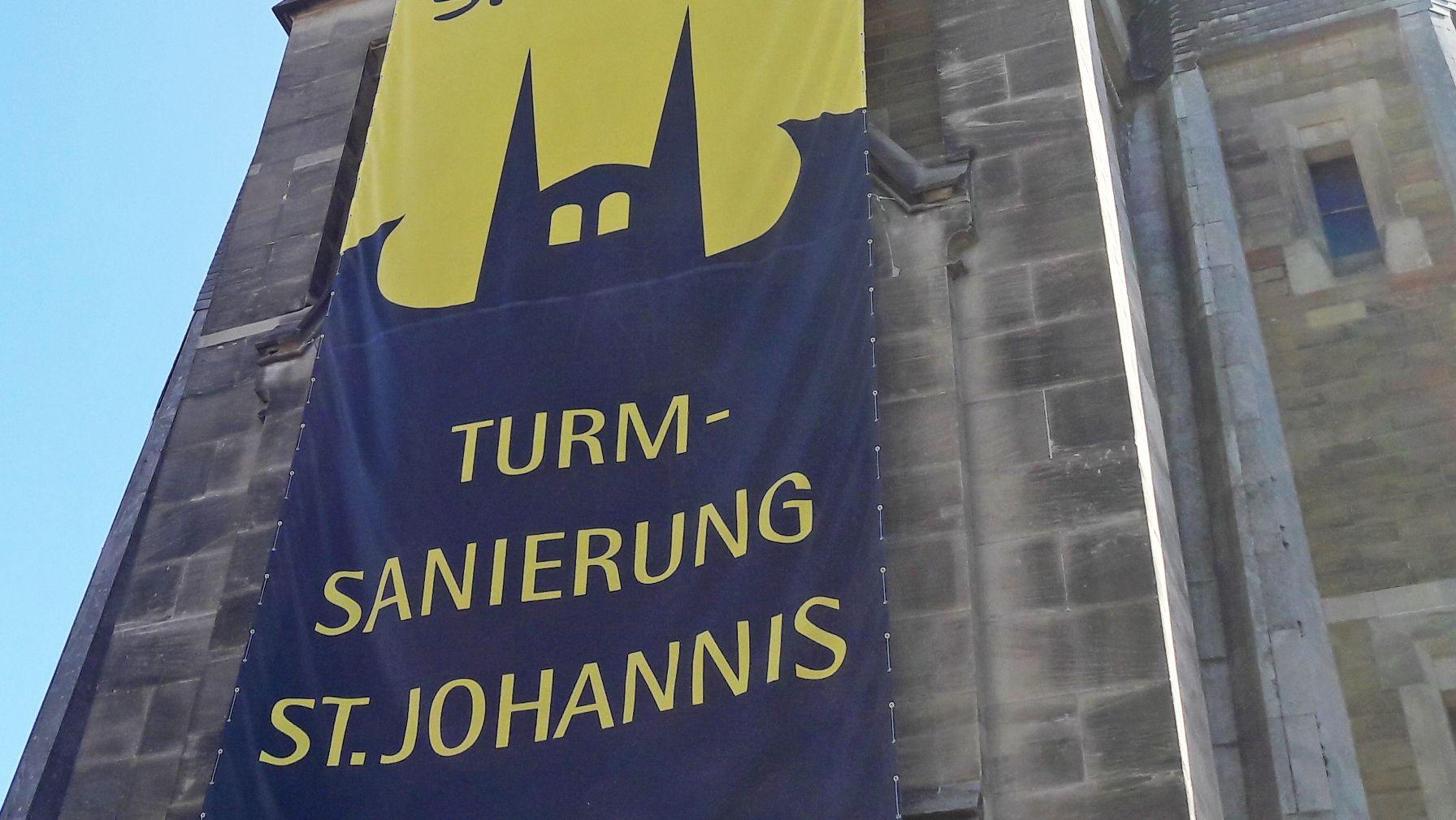 Logo der Spendenaktion für St. Johannis Würzburg
