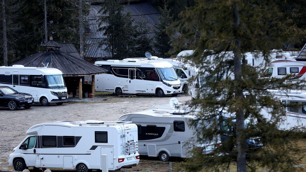Parkplatz für Wintersportler in Zakopane