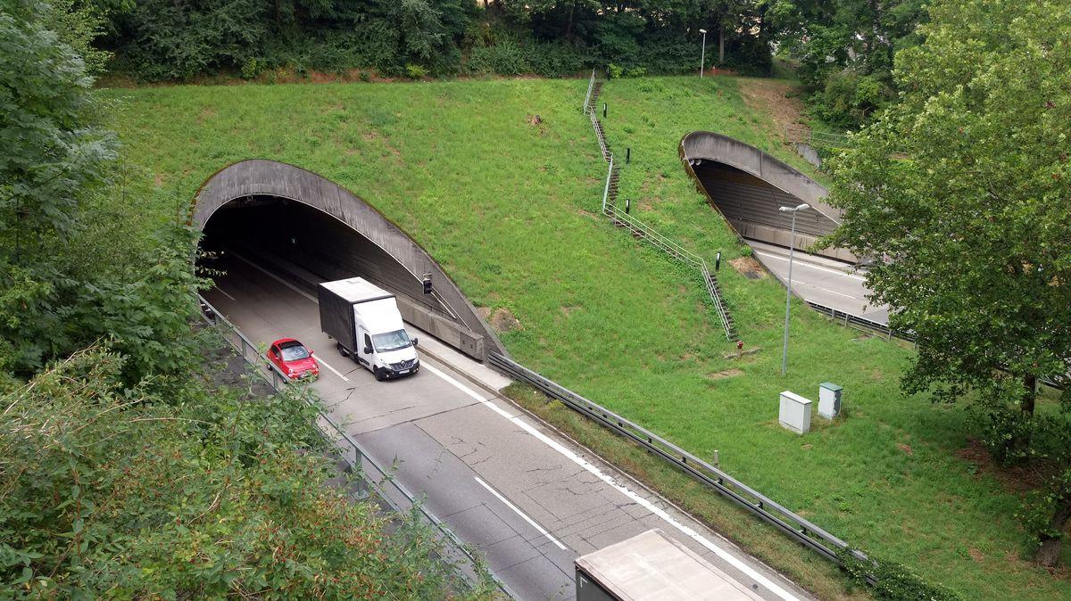 Der Pfaffensteiner Tunnel der A93 in Regensburg