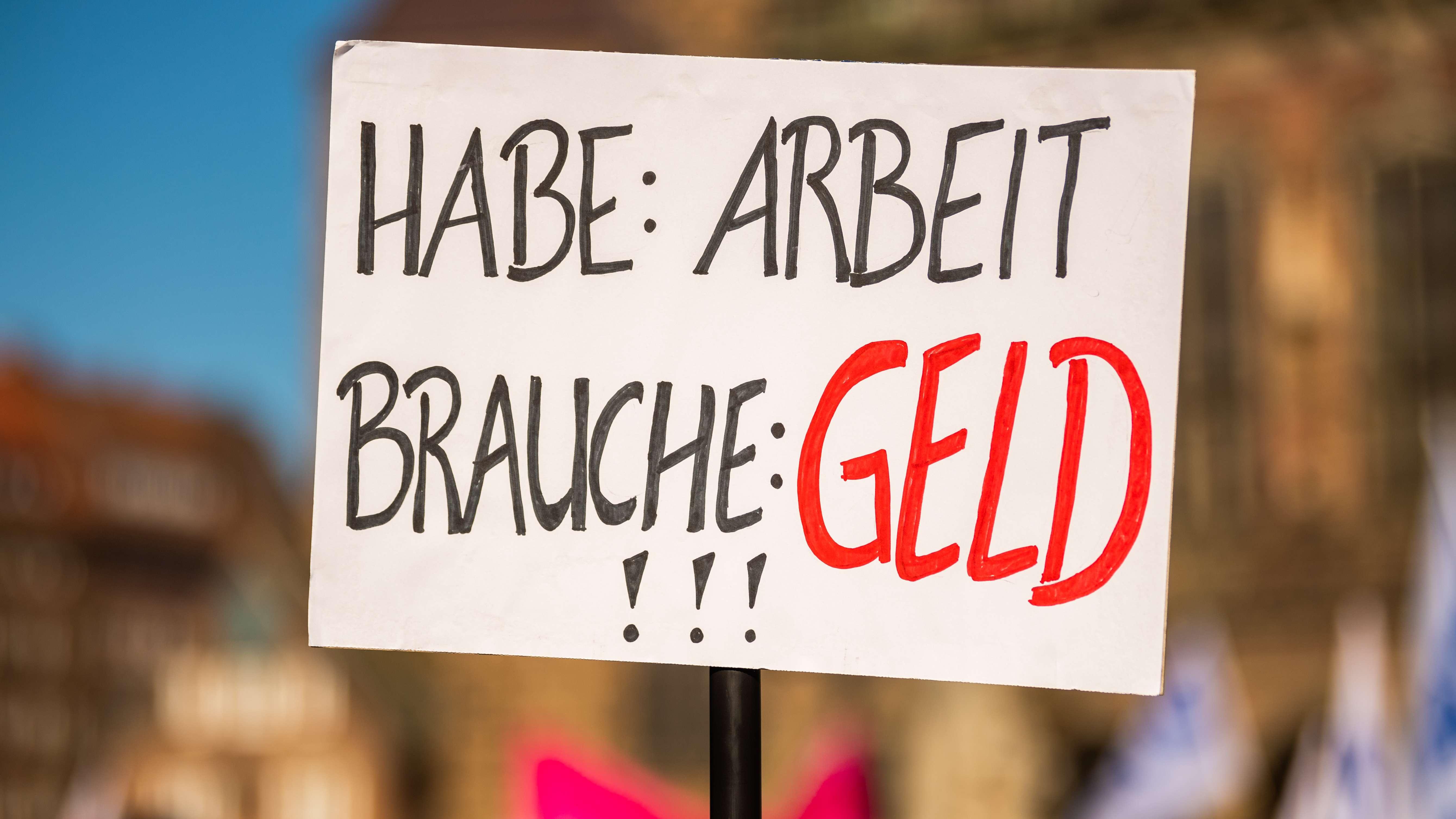 Plakat bei einem Verdi-Streik