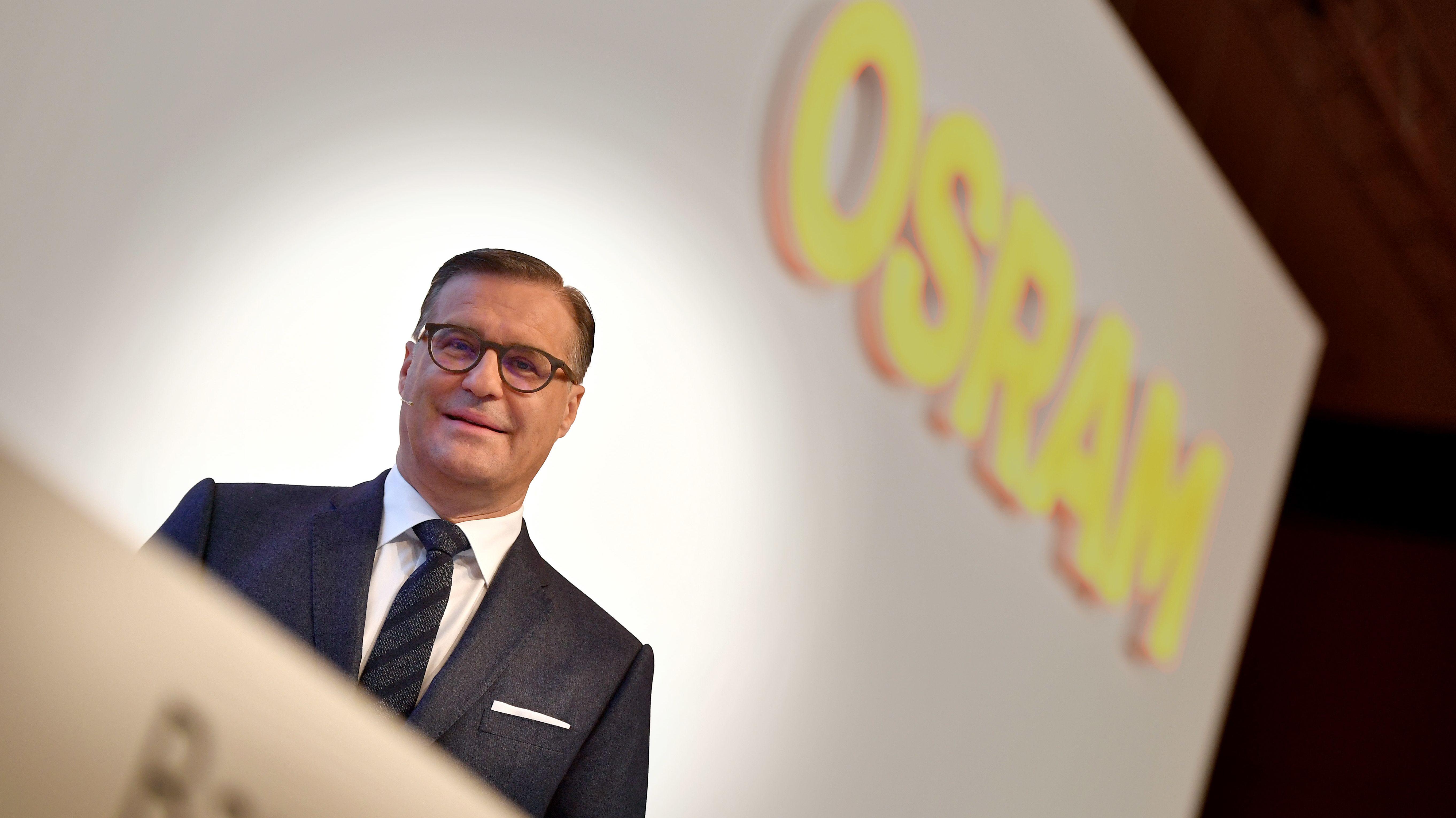 Osram-Vorstandschef Olaf Berlien auf der Hauptversammlung.