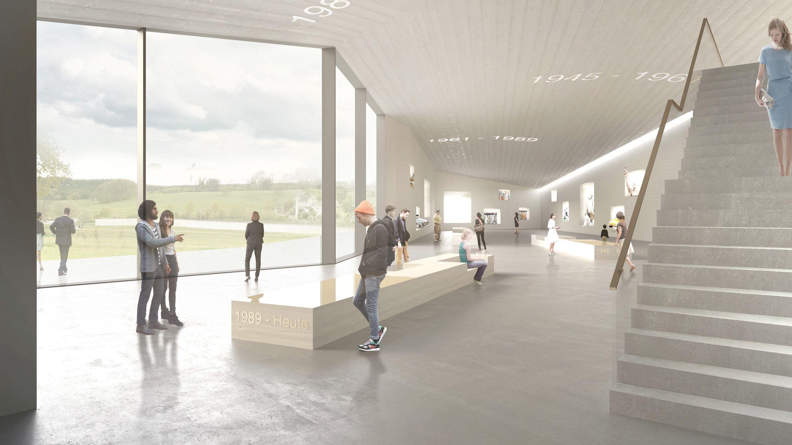 Ein Modell zeigt, wie sich die Architekten das Deutsch-Deutsche Museum in Mödlareuth künftig vorstellen.