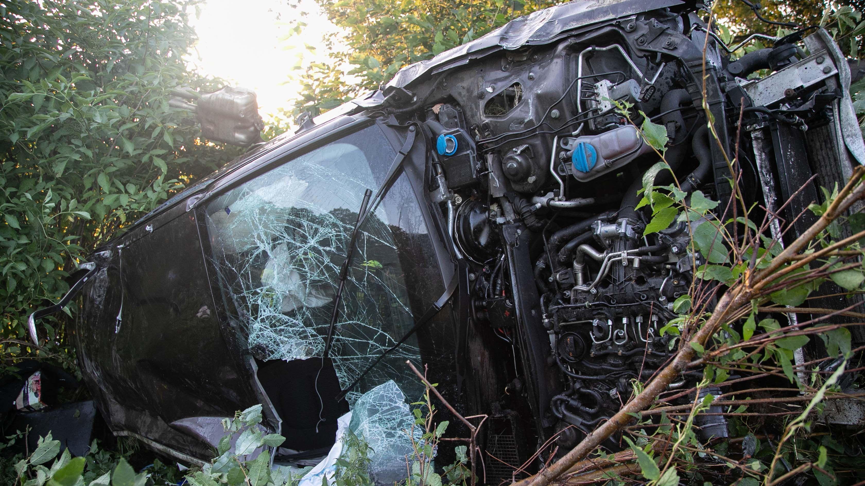 Verkehrsunfall an der A8 am 4. August 2019.
