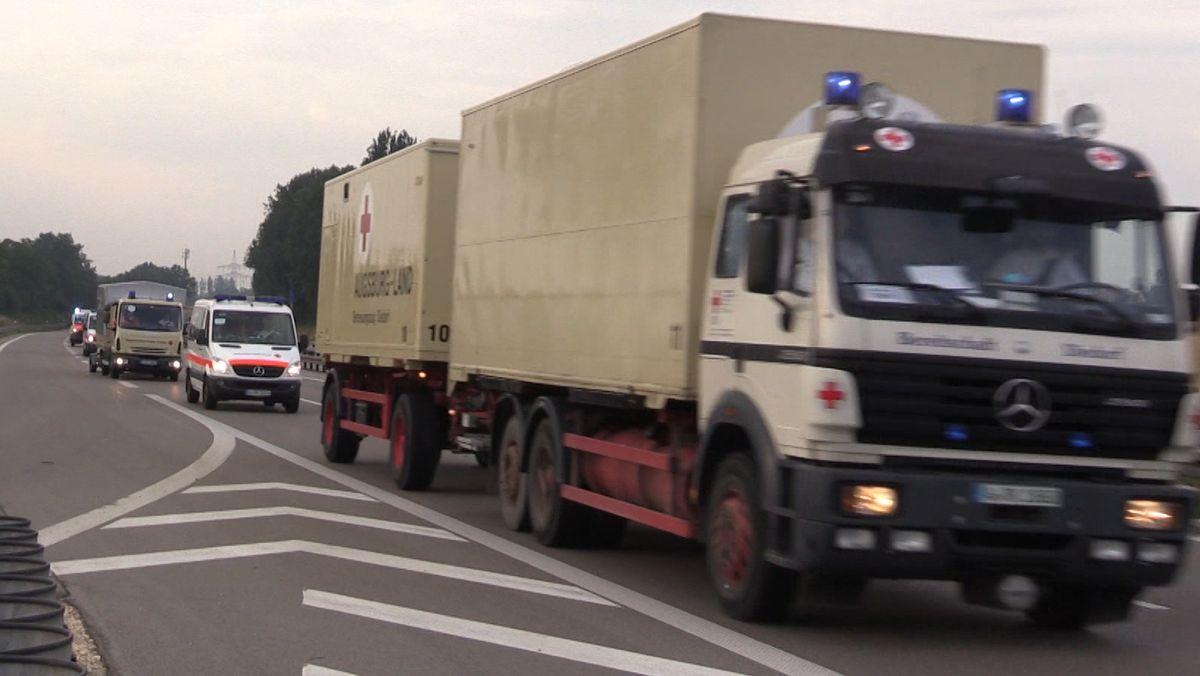 Hilfskonvoi des BRK Schwaben