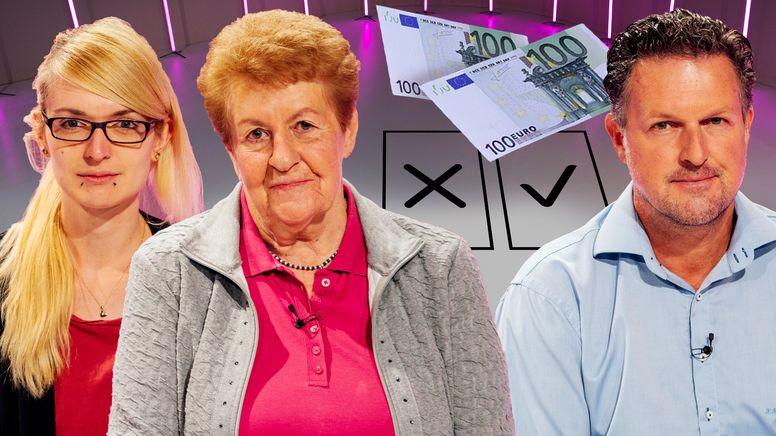 In Folge 3 der Generationenfrage zur Bundestagswahl diskutieren Bettina Rödig, Lioba Bichl und Klaus Bartl (v.l.n.r.). | Bild:BR