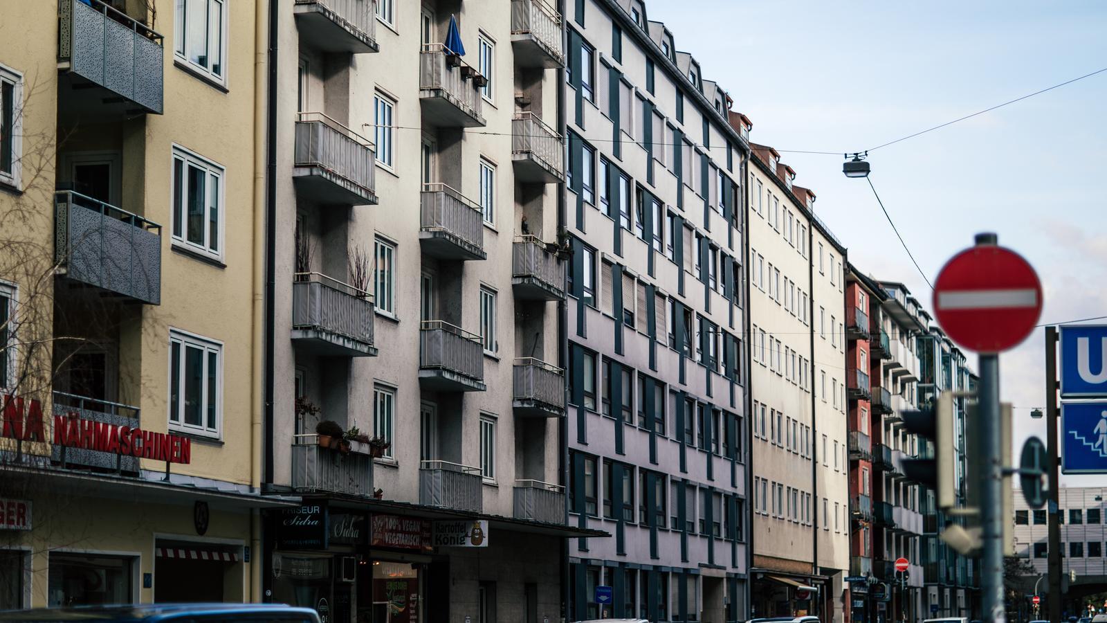 Mehrfamilienhäuser in der Münchner Innenstadt.