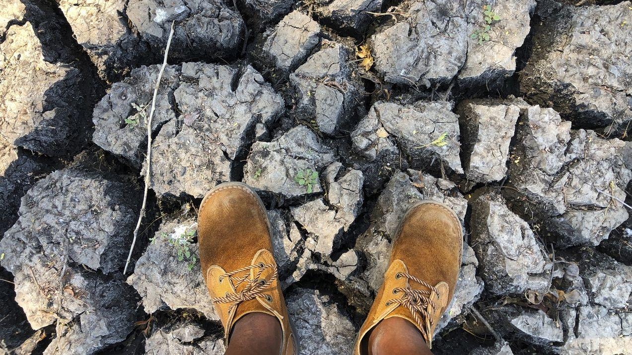Ausgetrockneter Boden in Simbabwe