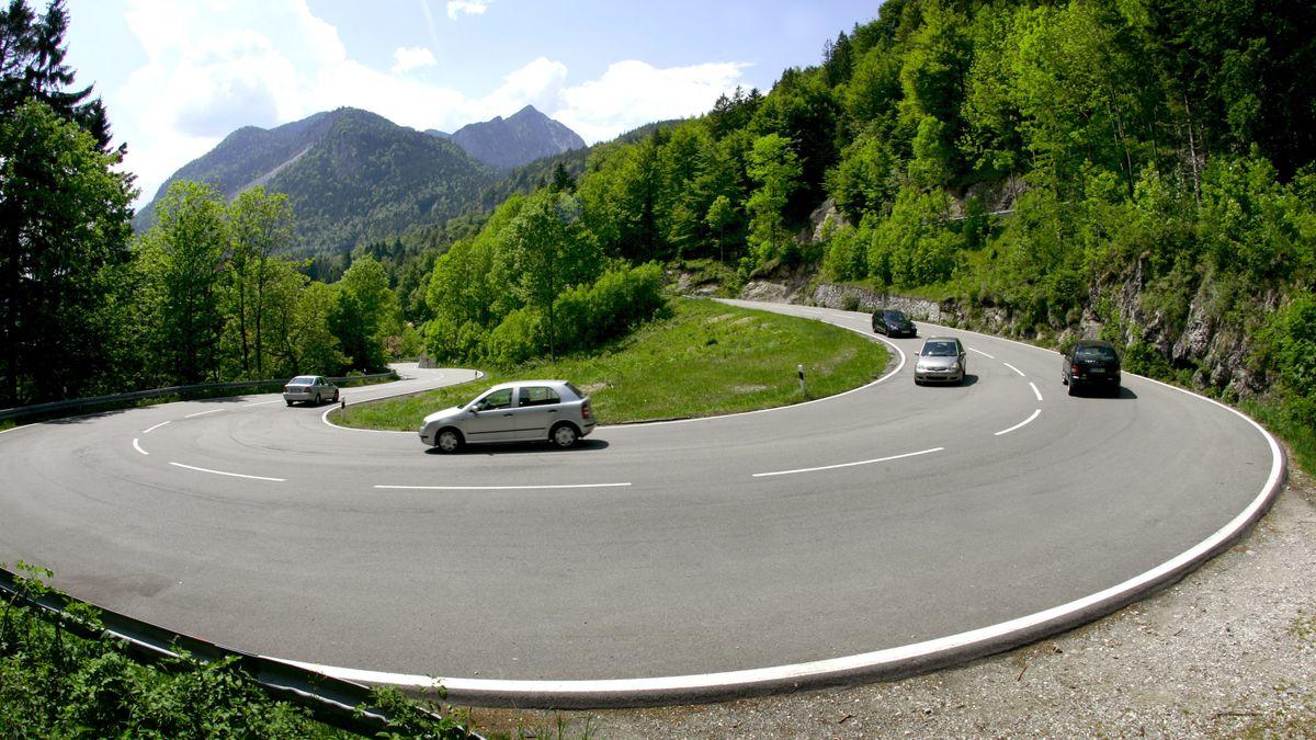 Bundesstraße 11 zwischen Kochel am See und Walchensee