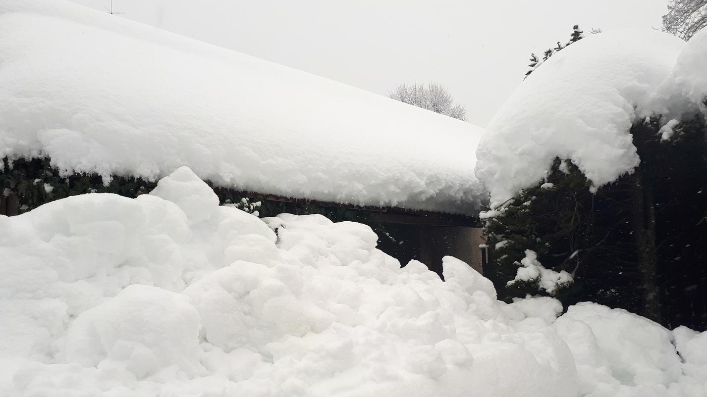 Schneemassen am Tegernsee